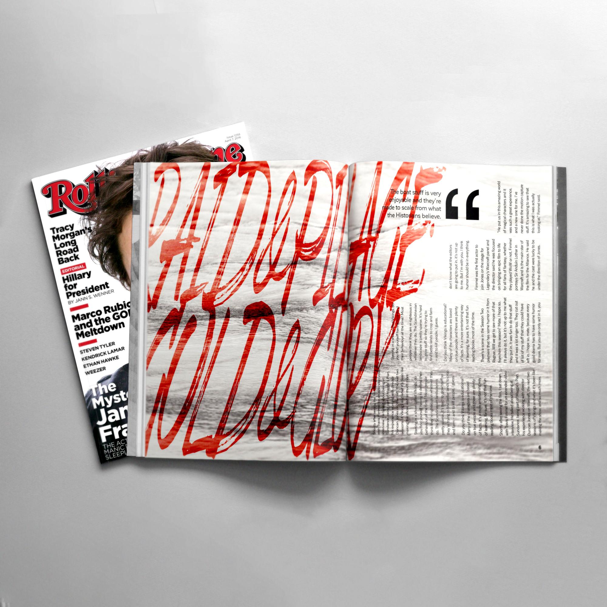 Vikings Magazine Spread