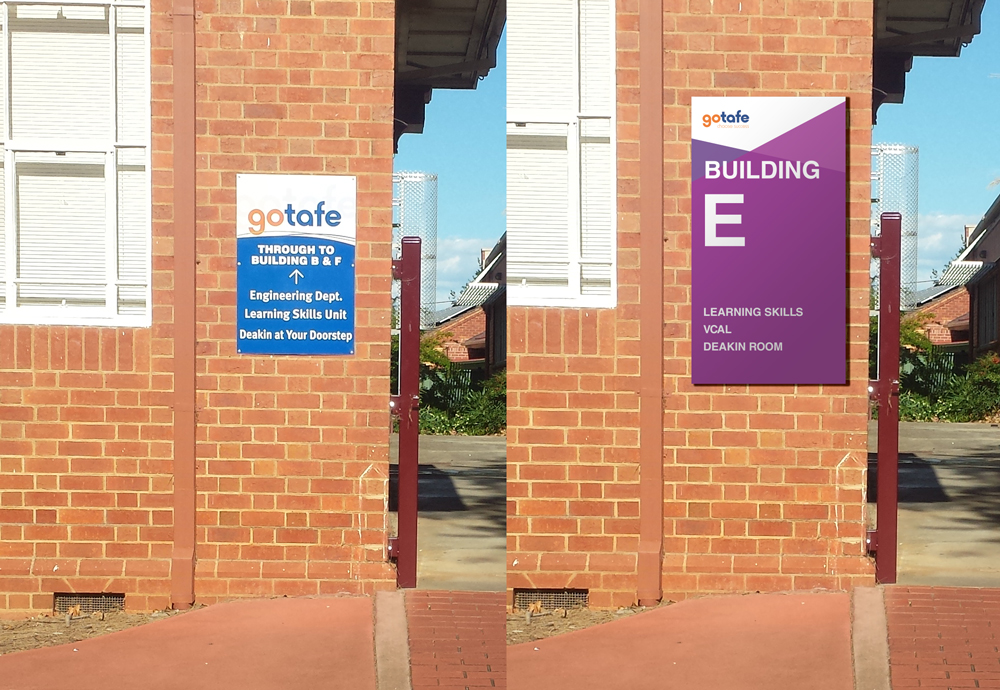 Gotafe Wayfinding Comparison Visual
