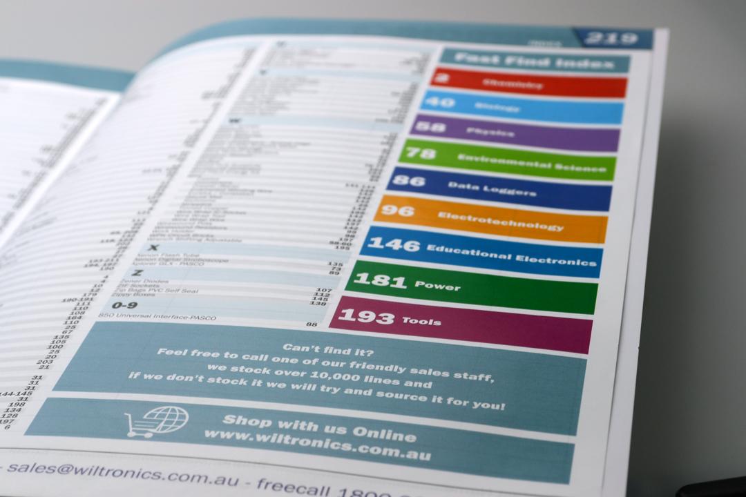 Wiltronics Catalogue 2013 Index