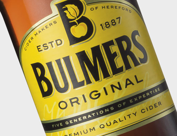 Bulmers Cider 4 Pack Bottle Label Iteration