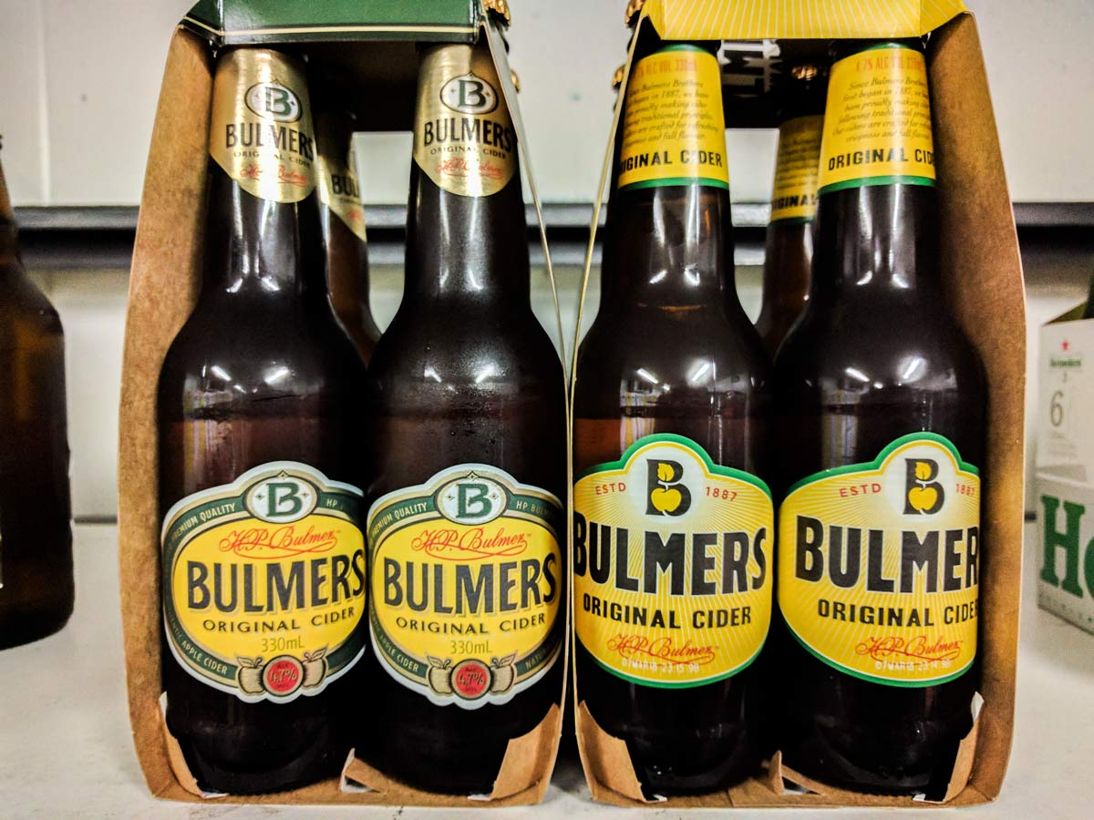 Bulmers Cider 4 Pack Bottle Label