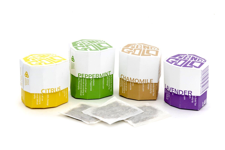 Fiends Gold Tea Packaging